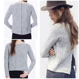Madewell Palisade Exposed Back Zip Knit Sweater XS